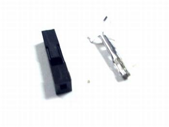 Header krimp plug female 1 pin