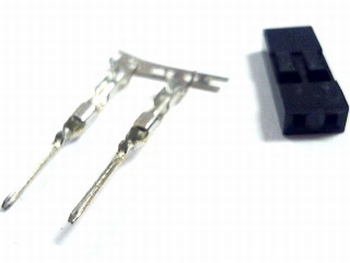 Header crimp plug male 2 pins