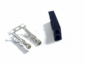 Header krimp plug female 2 pin