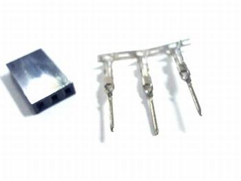 Header krimp plug male 3 pin