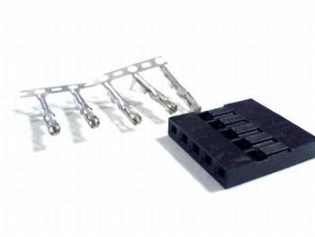 Header krimp plug female 5 pin
