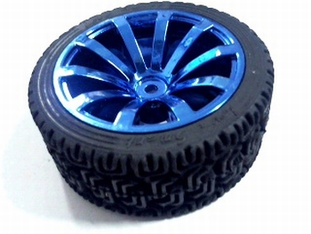 Wheel 65mm metalic blue for 4 mm axis