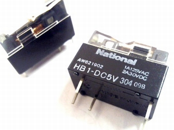 Relay National  HB1-DC 5 Volt SPDT - 1 pole