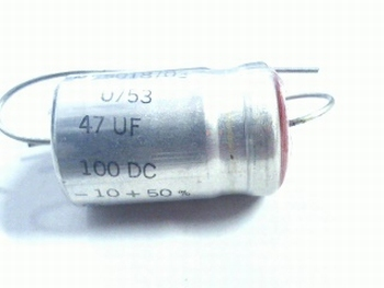 Electrolytic capacitor 47uf - 100 volts axial