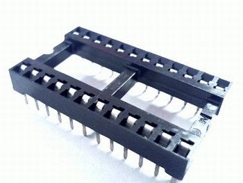 24 pins wide standard IC socket