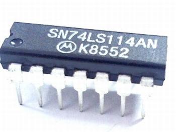 74LS114 duel J-K negative edge triggered flip-flop DIP-14