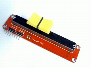 Sliding potentiometer module