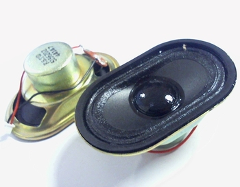 Miniature loudspeaker oval 0,5 watt 58mm x 36mm