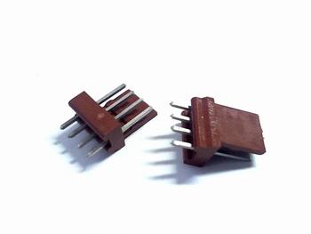 Header 4 pins recht RM2.54