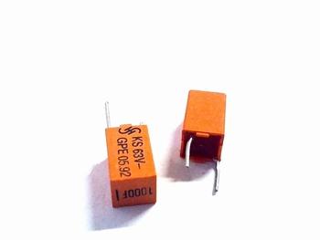 Styroflex condensator 1nf radiaal RM7