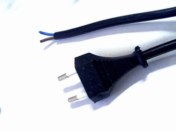 Euro power cable 1.8 meters with loose wires