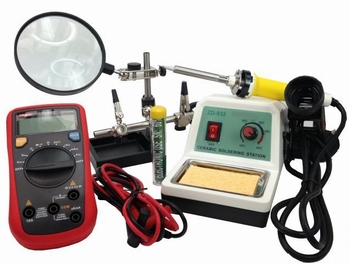 Complete electronic toolkit wil solderstation 48Watt