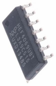 HEF4069UBT Hex Inverter, 3 ? 15 V, 14-Pin SOIC