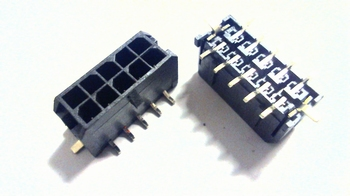 Microfit rechte header 10 polig SMD