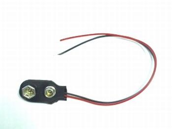 Battery clip for 9 volt battery