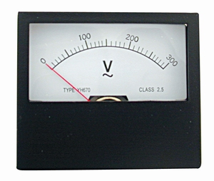 paneelmeter 0-300 volt AC