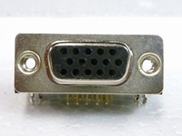 VGA connector (15 pins) female for PCB