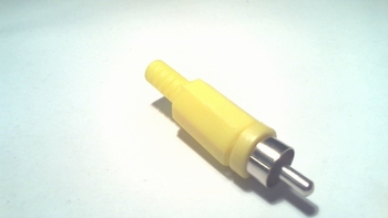 Cinch - tulp - RCA plug male Geel