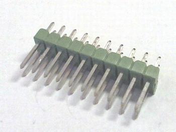 Dubbele header recht 2x10 raster 2,54mm