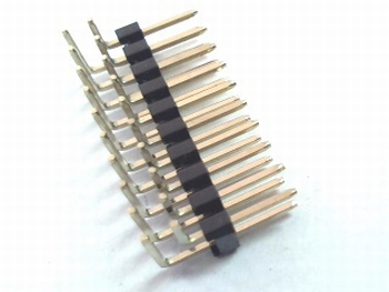 Double header 2x10 pins - 2.54mm bended