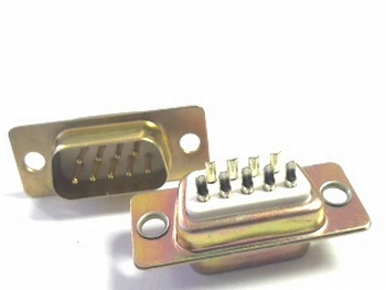 Sub D connector 9 polig male AANBIEDING!