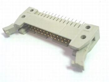 Header male connector 2x13 pins recht