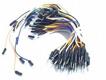 65 pieces of solderless breadboard wires