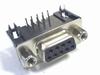 Sub-D connector female 9 polig haaks voor printmontage