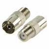 F-connector adapter F female naar coax female
