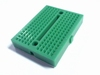 Solderless green breadboard mini
