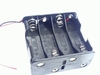 Battery holder for eight AA cells with wire connection
