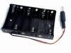 Battery holder for six AA cells with power plug 2.5