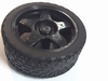Wheel 65mm black for 4mm x 5,5mm axis