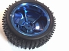Wiel 85mm diameter metalic blauw voor 4 mm as