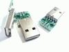USB A ingang op print met soldeeraansluitingen 4 pins
