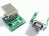 USB B ingang op print met soldeeraansluitingen 4 pins