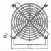 Beschermgrill voor ventilator 92mm