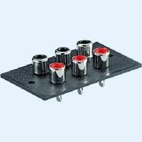 Cinch chassispanel 2 inputs