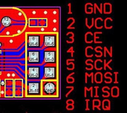 pinout 2.4 ghz transciever module
