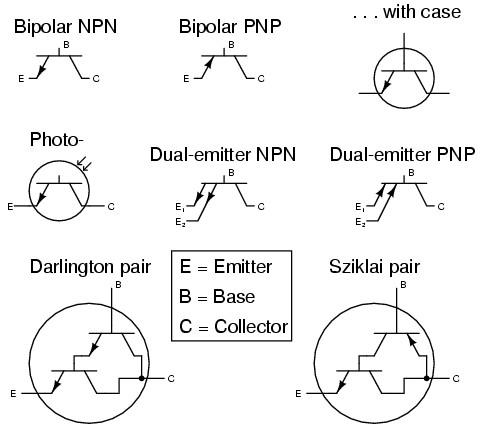 electronic symbol bipolar transistor