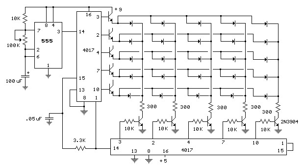 electronic circuit for led matrix