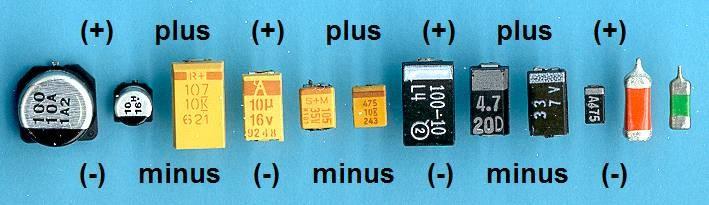 Polariteit SMD condensatoren