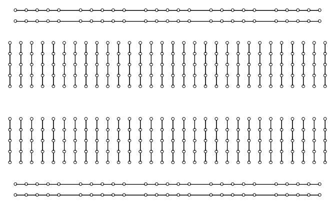 Aansluitingen in een breadboard